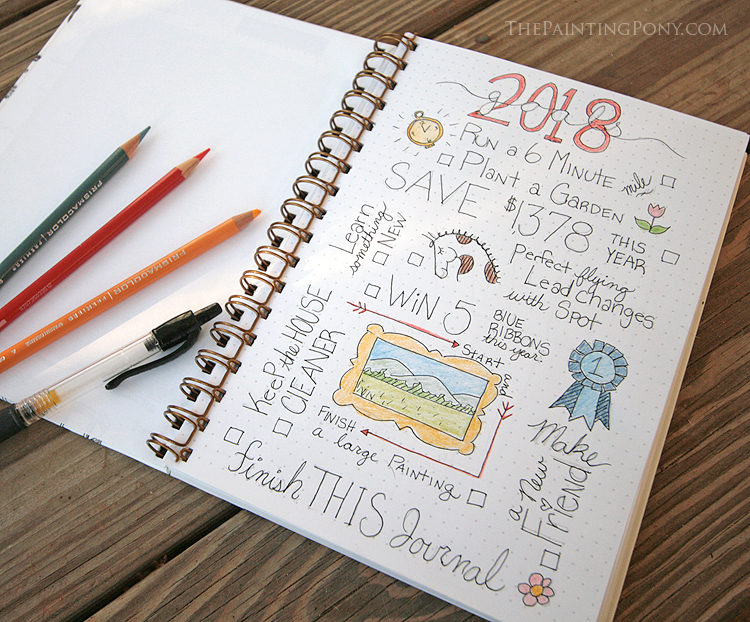 10 ways to bullet journal your way to new year 39 s resolutions success the painting pony. Black Bedroom Furniture Sets. Home Design Ideas